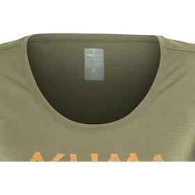 Aclima W's LightWool LOGO T-Shirt ranger green